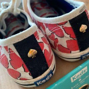 Keds x Kate Spade red butterflies shoes